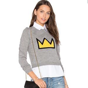 "Alice + Olivia X Basquiat ""Nikia Crown Sweater"""
